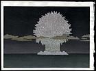 Oversized Toshi Yoshida  Woodblock - Should Not Use