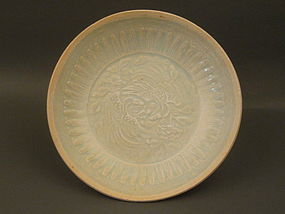 A Nice Pattern Qingbai Dish With A Pair Of Phoenix