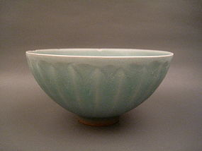 Extremely Rare Bluish Green Southern Song Lotus Bowl
