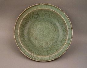 "A Rare Longquan ""Guan"" Style Celadon Dish"