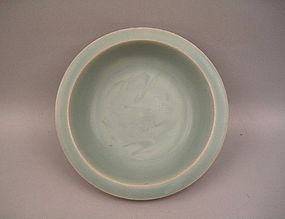 A Southern Song Longquan Dish With Incised Single Fish