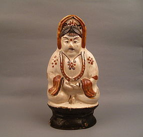 A Ming 16th Century Cizhou Figure Of Guanyin