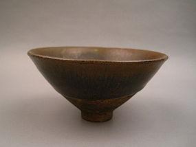 A Song -Yuan Jian Ware Hare's Fur Conical Tea Bowl