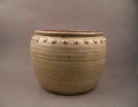 A Rare Song/Yuan Dynasty Drum Shaped Large Jar