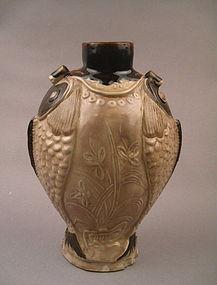 Extremely Rare Museum Quality Double Fish Shape Vase