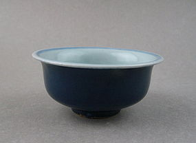 A Late Ming Dynasty B/W Bowl With Fish