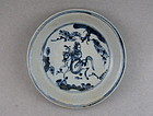 A Ming Dynasty 15th Century B/W Saucer Dish