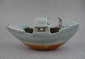 A Rare Yuan Dynasty Qingbai Boat