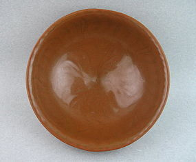 Unusual Reddish Glaze Song/Yuan Longquan Large Bowl