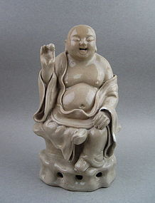 A Late Ming Dynasty Smiling Buddha Figure