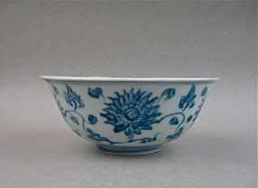 A Ming Dynasty B/W Bowl With Indian Lotus