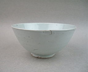 A Ming Dynasty B/W Bowl With Crane and Lotus