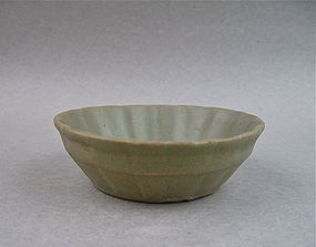 An Early Ming Longquan Bowl With Lobed Sides