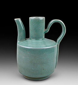 A Definitely Rare Koryo Celadon With Bluish Green Ewer