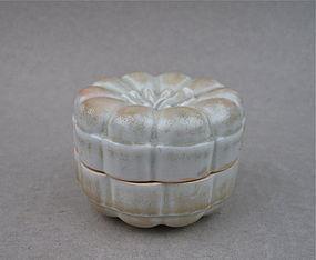 A Rare Song/Yuan Dynasty Pumpkin Shaped Covered Box