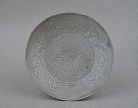 Impressive Molded Of Yuan Dynasty Dish With Lotus