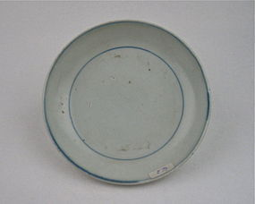A Blue and White Saucer Dish With Private Kiln Mark