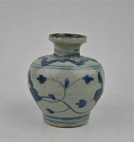 A Ming Dynasty B/W Small Vase
