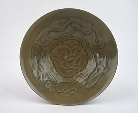 A RARE NORTHERN SONG YAOZHOU CELADON BOWL