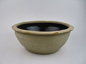 A MASSIVE BLACK GLAZED BASIN (SONG DYNASTY)