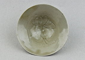 A SONG DYNASTY WHITE GLAZED CONICAL BOWL