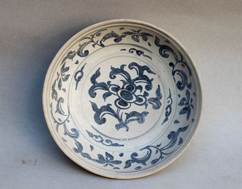 Annamese Blue and White Shallow Bowl
