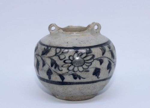 EXAMPLE OF YUAN DYNASTY BLUE AND WHITE JARLET