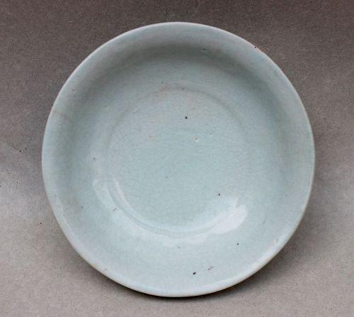 A QINGBAI GLAZE SMALL DISH ( LATE YUAN TO EARLY MING)