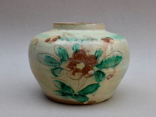 A NORTHERN SONG POLYCHROME JAR POSSIBLY CIZHOU WARE