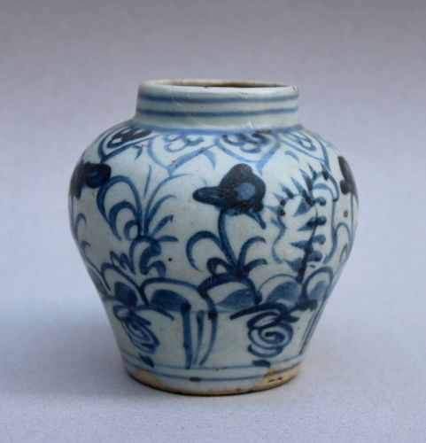 NICE MING DYNASTY BLUE AND WHITE JAR