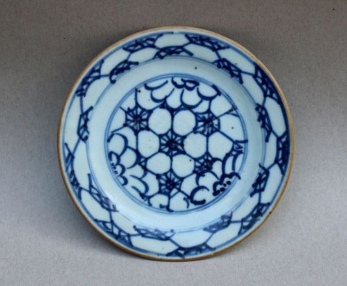 Early Qing Dynasty Blue and White Small Dish