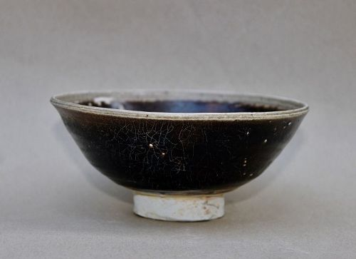 A SONG DYNASTY BLACK GLAZED BOWL WITH WHITE RIM