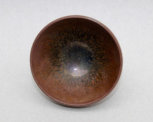 Jian Ware Small Wine Cup with Oil Spots Design