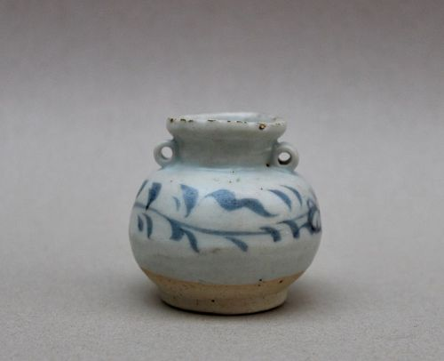 YUAN DYNASTY BlUE AND WHITE JARLET