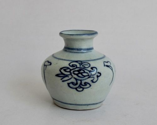 Blue and White Small Jarlet of Late Ming Dynasty 17th Century