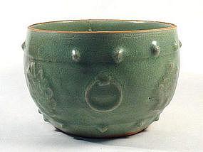 Drum style celadon bowl