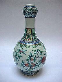 A Doucai Garlic Head Vase