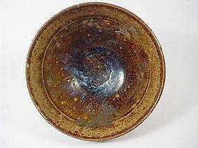 A Rare Cizhou Bowl with Blue Suffusions
