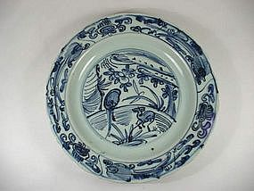 BLUE & WHITE PLATE