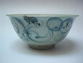 Blue & White Bowl (Early Ming 14th Century)