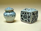 Rare Two Yuan Dynasty B/W Small Objects