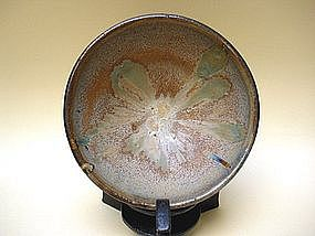 A Fine & Rare Chinese Marbled Glazed Tea Bowl