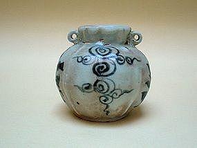 A Lobed Sides Of Yuan B/W Jar