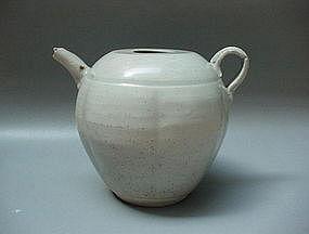 A Rare & Elegant Shape Of Song White Glaze Ewer