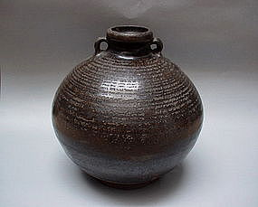 A Sawankhalok Brown Glaze Jar