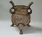A Magnificent Found Of Large Tripod Censer