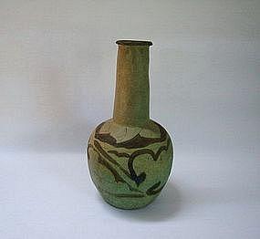 A Rare 'Quangzhou' Green Glaze Bottle Vase
