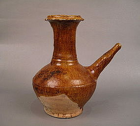 14th Century Amber Glaze Kendi