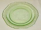Hazel Atlas Green FLORENTINE 1 POPPY 1 6 Inch PLATE