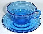 Hazel Atlas Cobalt Blue MODERNTONE CUP and SAUCER